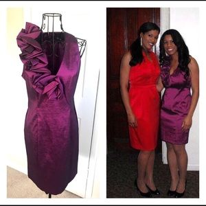 Purple Sleeveless Evening Dress